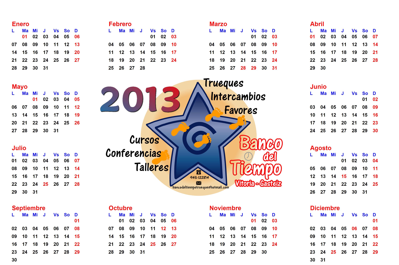 Calendario del Trueque_2013