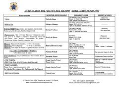 Cursos y Actividades 2013